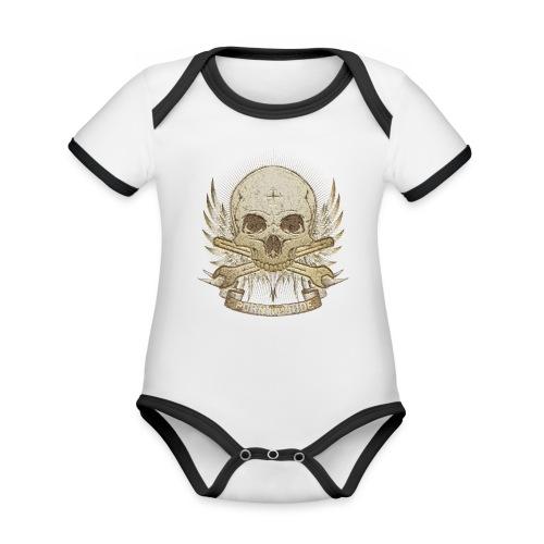 Born To Ride - Stone   Man - Baby Bio-Kurzarm-Kontrastbody