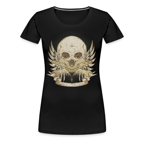 Born To Ride - Stone   Man - Frauen Premium T-Shirt