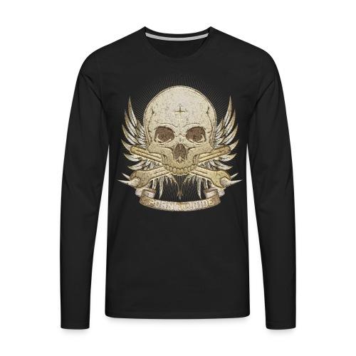 Born To Ride - Stone   Man - Männer Premium Langarmshirt
