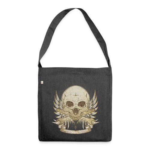 Born To Ride - Stone   Man - Schultertasche aus Recycling-Material