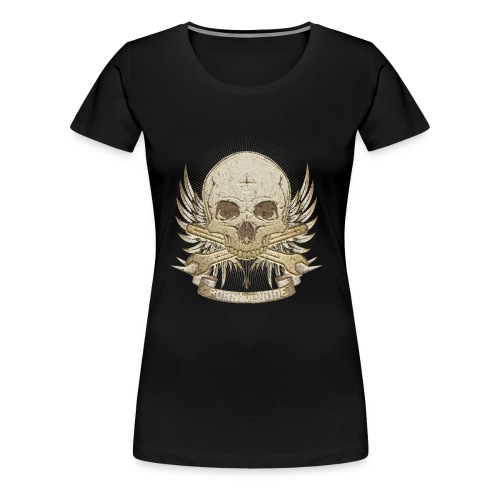 Born To Ride - Stone   Baby - Frauen Premium T-Shirt