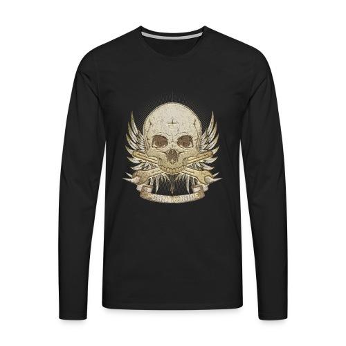 Born To Ride - Stone   Baby - Männer Premium Langarmshirt