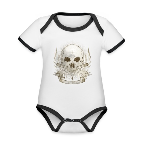 Born To Ride - Vintage   Man - Baby Bio-Kurzarm-Kontrastbody