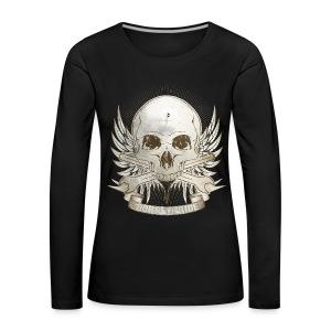 Born To Ride - Vintage   Man - Frauen Premium Langarmshirt