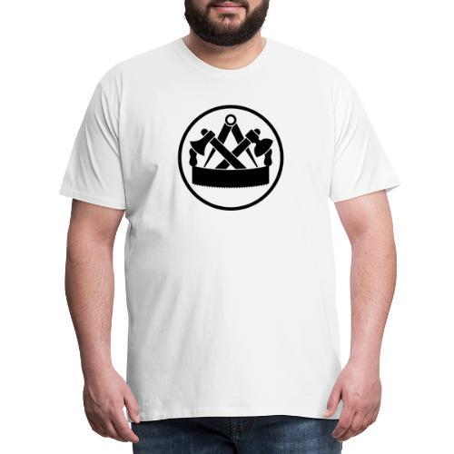 Zunftzeichen Zimmermann - Männer Premium T-Shirt