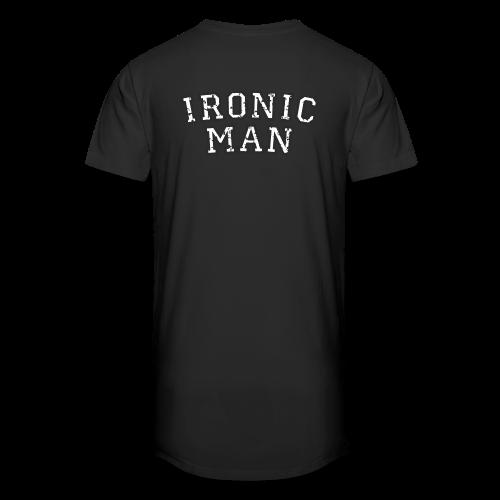 Ironic Man T-Shirt (Grün) Rücken - Männer Urban Longshirt