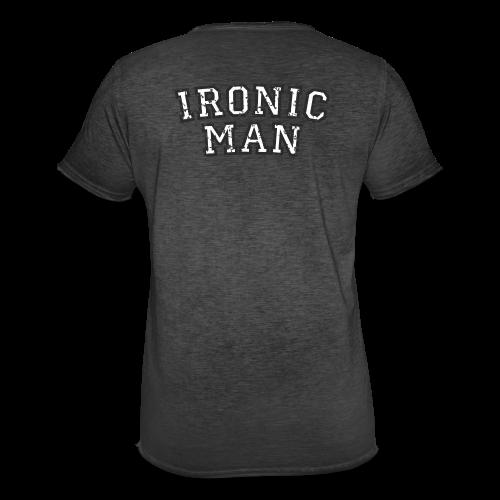 Ironic Man T-Shirt (Grün) Rücken - Männer Vintage T-Shirt