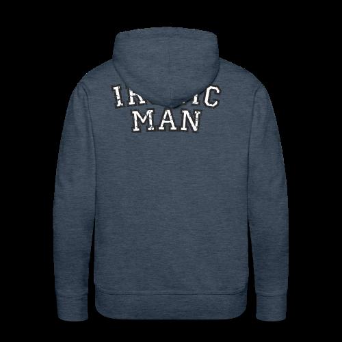 Ironic Man T-Shirt (Grün) Rücken - Männer Premium Hoodie