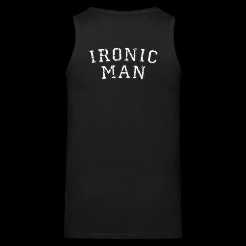 Ironic Man T-Shirt (Grün) Rücken - Männer Premium Tank Top