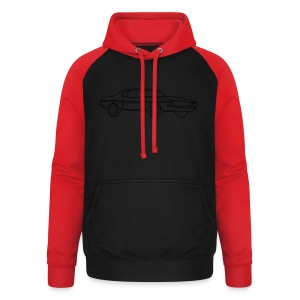 US Muscle Car V8 Tribal - Unisex Baseball Hoodie