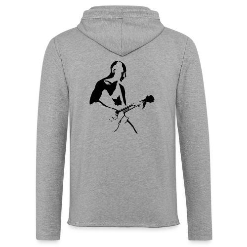 Gitarren Solo Mann Tribal - Leichtes Kapuzensweatshirt Unisex