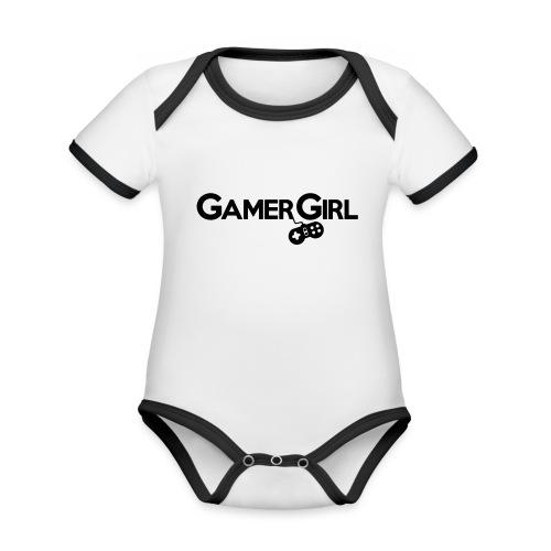 GAMER GIRL Mütze Nerd Beanie Zockerin - Baby Bio-Kurzarm-Kontrastbody