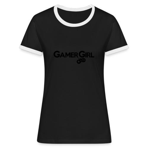 GAMER GIRL Mütze Nerd Beanie Zockerin - Frauen Kontrast-T-Shirt