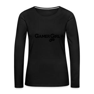 GAMER GIRL Mütze Nerd Beanie Zockerin - Frauen Premium Langarmshirt