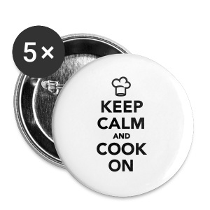 KEEP CALM AND COOK ON - Spilla piccola 25 mm