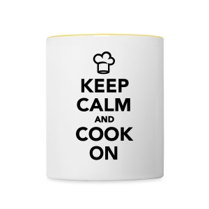 KEEP CALM AND COOK ON - Tazze bicolor