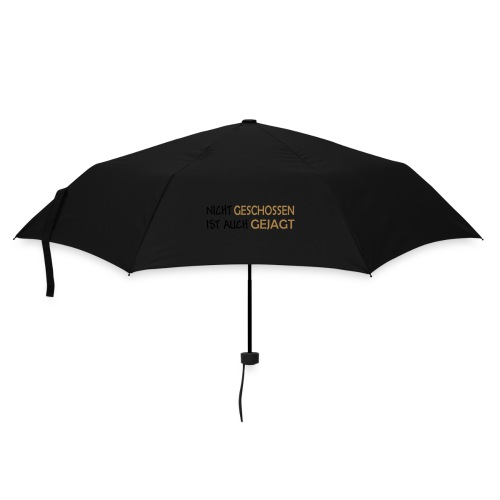 Nicht geschossen braun vertikal - Regenschirm (klein)
