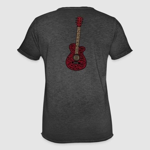 Männer Vintage T-Shirt - unschwer zu erkenn ist dies eine gitarre im zebra look
