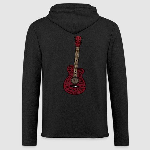 Leichtes Kapuzensweatshirt Unisex - unschwer zu erkenn ist dies eine gitarre im zebra look