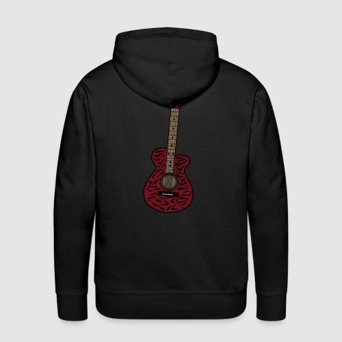 Männer Premium Hoodie - unschwer zu erkenn ist dies eine gitarre im zebra look