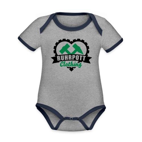 Ruhrpott Clothing - Kinder Pullover - Baby Bio-Kurzarm-Kontrastbody