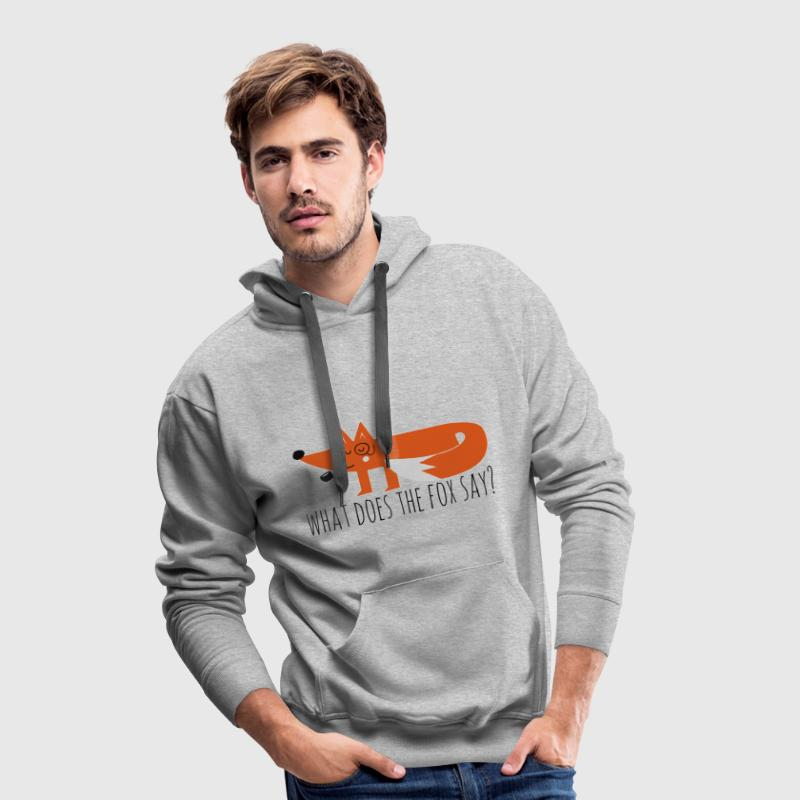 Funny Hipster Swag Trendy comic cartoon renard Sweat-shirts - Sweat-shirt à capuche Premium pour hommes