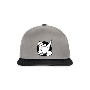 Icon fette Katze sitzend auf Beutel - Snapback Cap