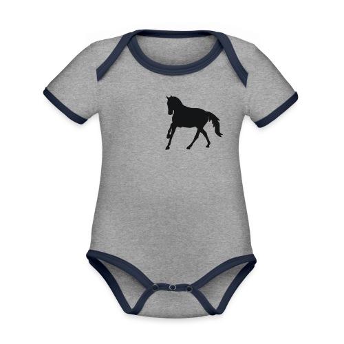 Longsleeve Shirt - Baby Bio-Kurzarm-Kontrastbody