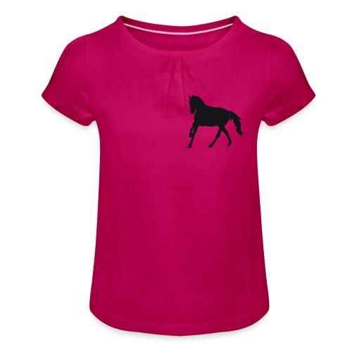 Longsleeve Shirt - Mädchen-T-Shirt mit Raffungen
