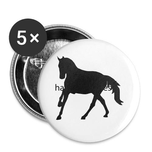 Longsleeve Shirt - Buttons klein 25 mm (5er Pack)