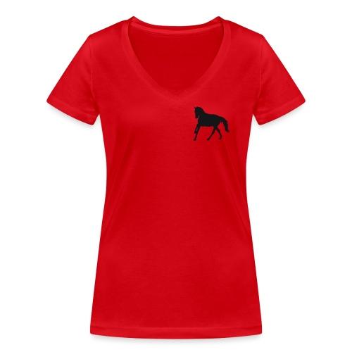 Longsleeve Shirt - Frauen Bio-T-Shirt mit V-Ausschnitt von Stanley & Stella