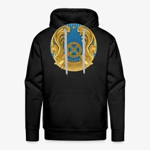 Kasachstan Казахстан Герб Wappen Männer T-Shirt Schwarz - Männer Premium Hoodie
