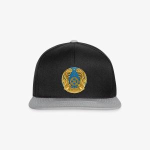 Kasachstan Казахстан Герб Wappen Männer T-Shirt Schwarz - Snapback Cap