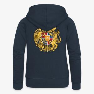 Armenien Wappen Armenia Армения Герб Wappen Frauen T-Shirt - Frauen Premium Kapuzenjacke