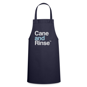 Cane and Rinse logo navy blue T - Cooking Apron