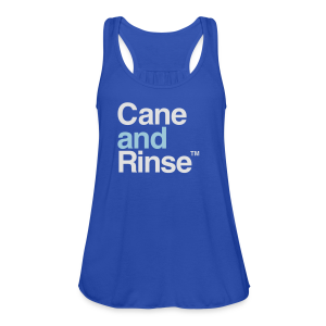 Cane and Rinse logo navy blue T - Women's Tank Top by Bella