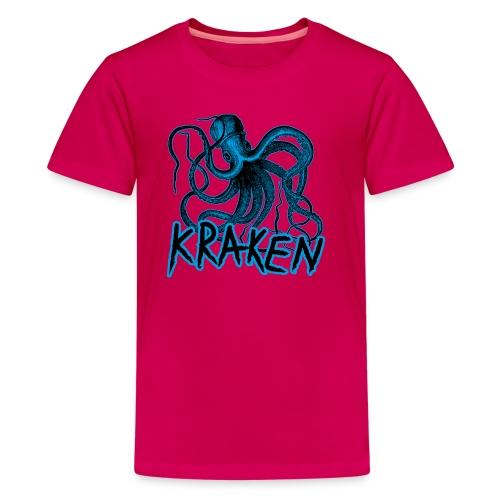 Kraken - The octopus monster - Teenage Premium T-Shirt