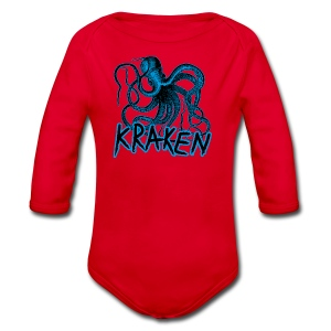 Kraken - The octopus monster - Organic Longsleeve Baby Bodysuit