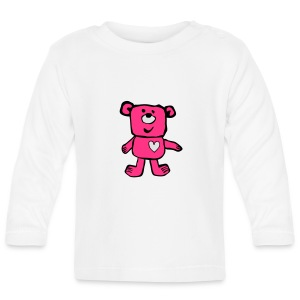A Friendly bear - pink - Baby Long Sleeve T-Shirt
