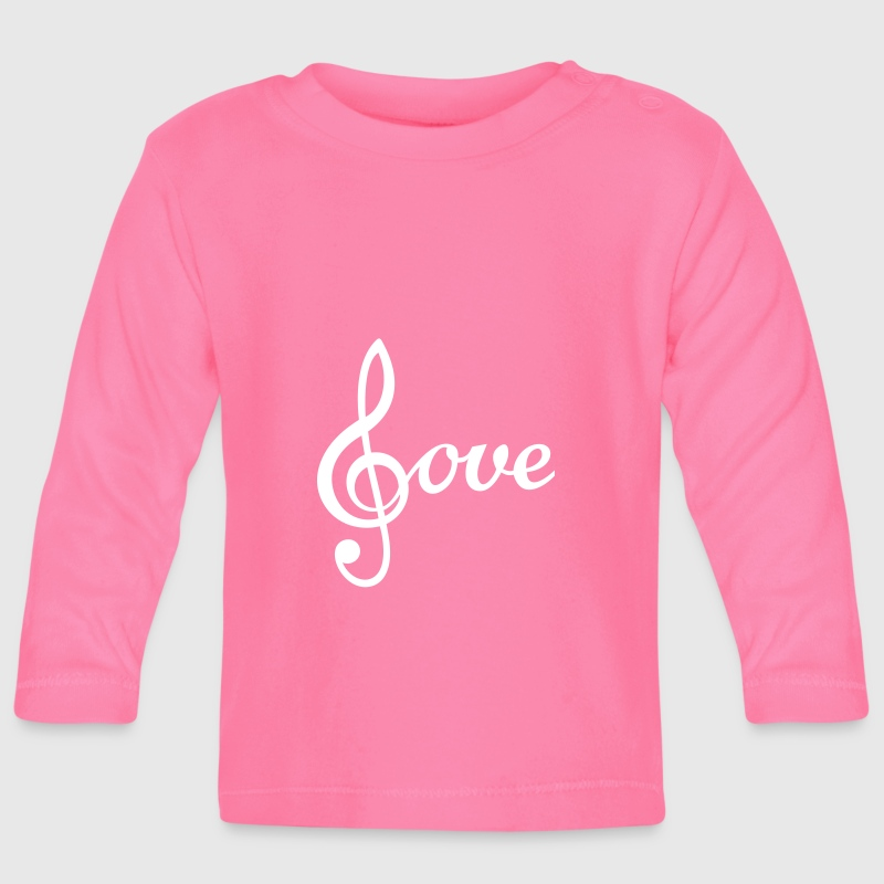I love Music Treble Clef de Sol Icon Clipart Long Sleeve Shirts - Baby Long Sleeve T-Shirt