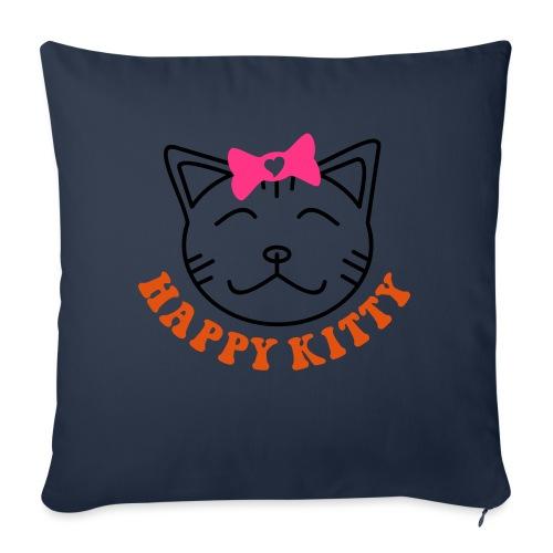 HAPPY KITTY - Sofakissenbezug 44 x 44 cm