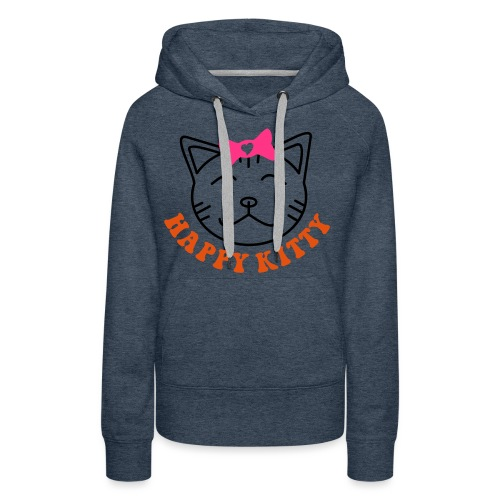 HAPPY KITTY - Frauen Premium Hoodie