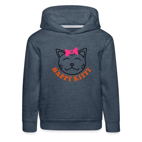 HAPPY KITTY - Kinder Premium Hoodie