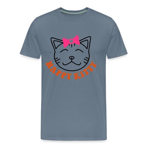 HAPPY KITTY - Männer Premium T-Shirt
