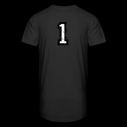 Nummer 1 T-Shirt (Damen Rot) Rücken - Männer Urban Longshirt