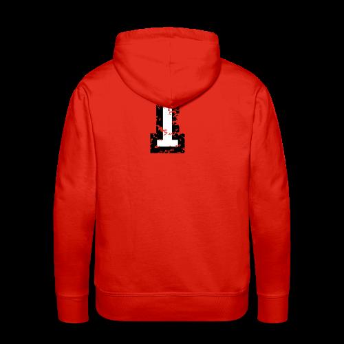 Nummer 1 T-Shirt (Damen Rot) Rücken - Männer Premium Hoodie