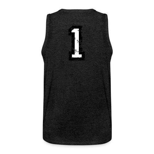 Nummer 1 T-Shirt (Damen Rot) Rücken - Männer Premium Tank Top
