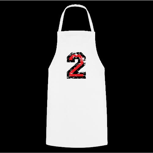 Nummer 2 T-Shirt (Damen Grau) Rücken - Kochschürze