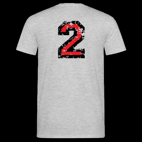 Nummer 2 T-Shirt (Damen Grau) Rücken - Männer T-Shirt