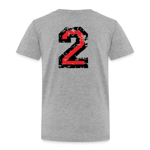 Die Zahl Zwei - Nummer 2 (zweifarbig) rot